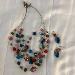 Fun bulb necklace & Earring set from Chico's
